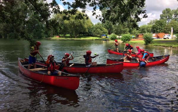 canoeing kids party North Yorkshire
