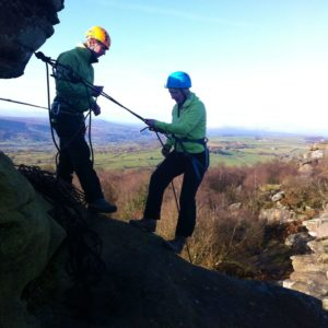 Abseilling in North Yorkshire