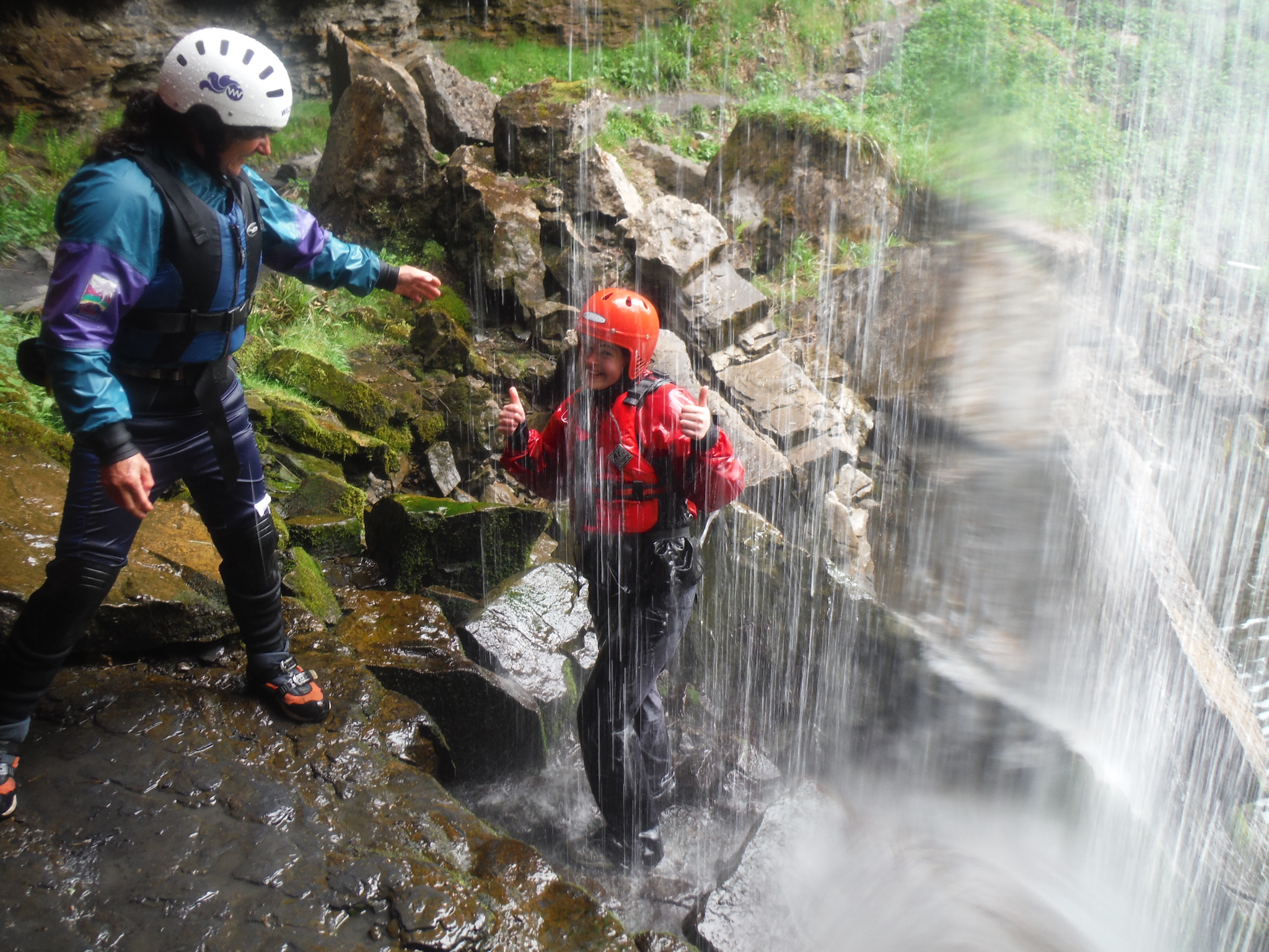 Gorge walking in Ash Ghyll near Barnard Castle