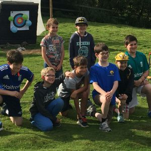 archery birthday party in North Yorkshire