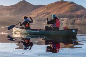 Canoeing on Derwent Water