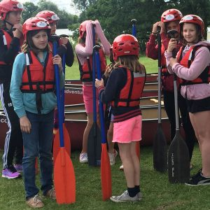 kids party canoeing adventure