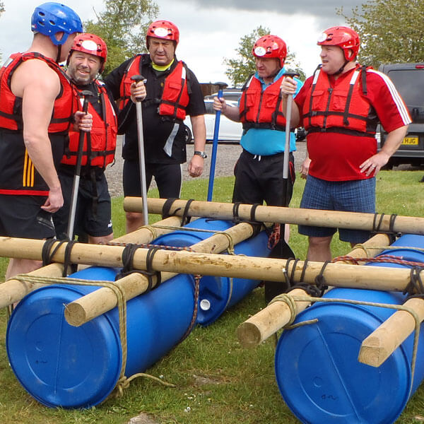 Raft building in North Yorkshire