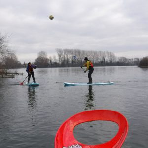 stand up paddle boarding on Ellerton Lake