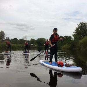 stand up paddle board River Ure Ripon to Boroughbridge