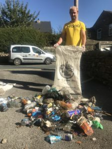 Litter picking Yorkshire Three Peaks