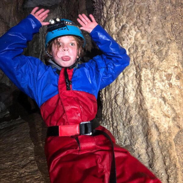 Caving experience suitable for kids