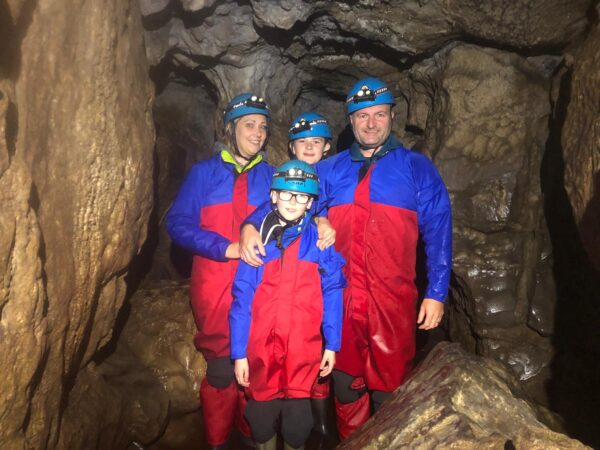 Family caving trips in North Yorkshire