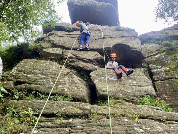 Rock Climbing and Abseiling Brimham Rocks