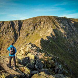 guided walk Helvellyn via striding edge
