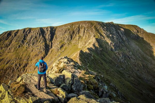 guided walk Helvellyn via striding edge